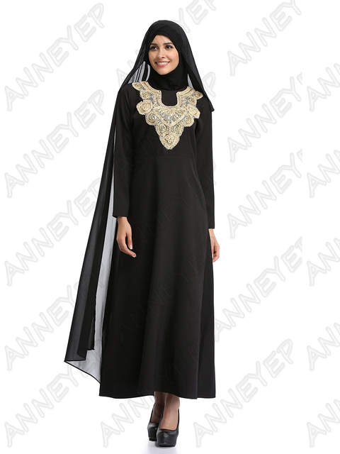 Online Shop Embroidery Dresses For Women Islamic Clothing Dresses