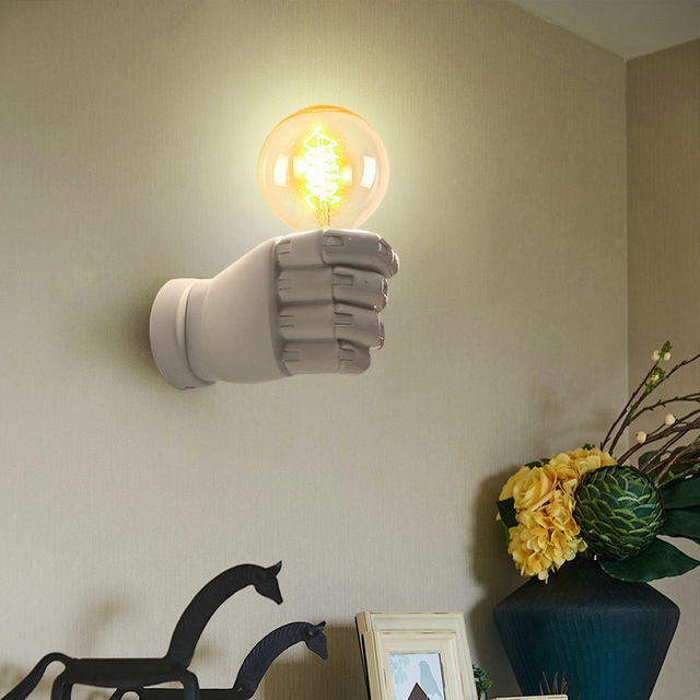 Hand Art Wall Lamp Holder For Home And Offices