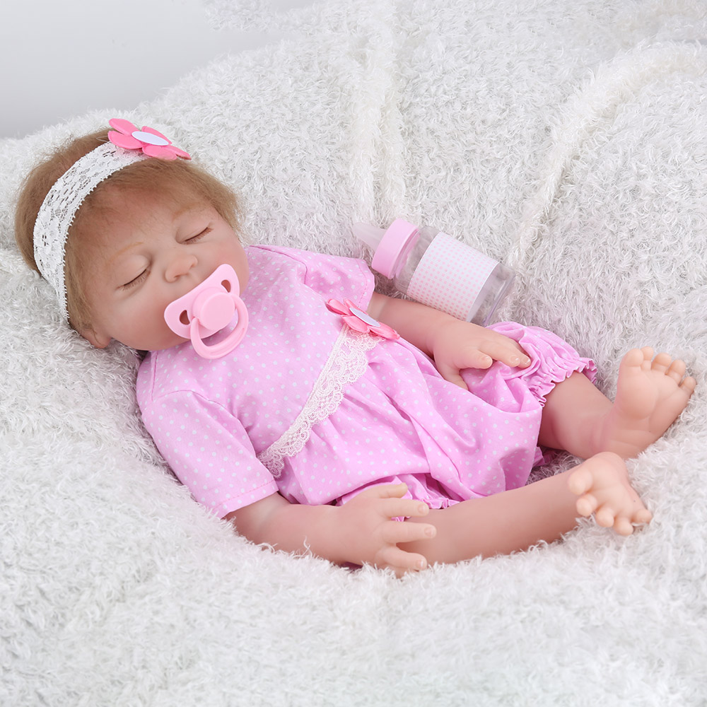 KAYDORA 17inch 43cm Full Silicone Reborn Baby Dolls Alive Bebe Lifelike Realistic Sleeping Close Eyes Girl Toys Birthday Gift KAYDORA 17inch 43cm Full Silicone Reborn Baby Dolls Alive Bebe Lifelike Realistic Sleeping Close Eyes Girl Toys Birthday Gift