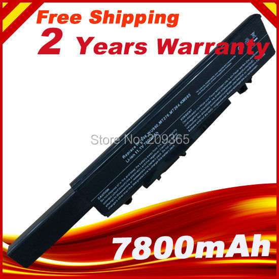 7800mAh Laptop Battery For Dell Studio 1535 1536 1537 1555 1557 1558 PP33L PP39L 312-0701 312-0702 KM958 KM965 MT264 WU946
