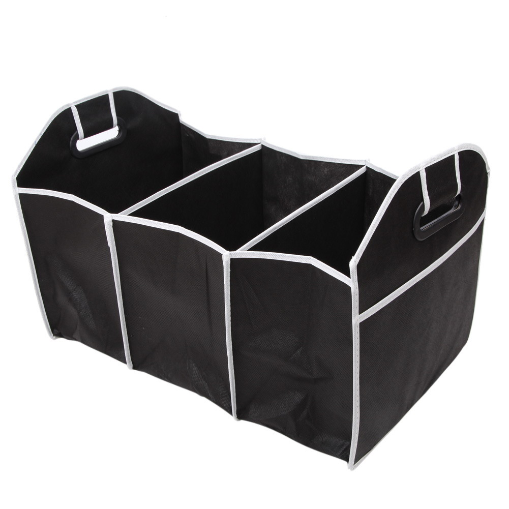 1PCS Collapsible Black Car Non-Woven Organizer Toys Food Storage Container Bags Box Car Stowing Styling Auto Accessories 15