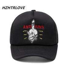 Adulto al por mayor moda Unisex del camionero algodón Cruz cráneo gorra de  béisbol Snapback sombrero 20a96805ff6