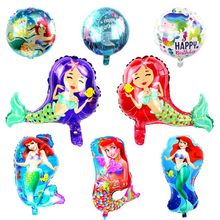 1pc Mermaid foil Balloon Little Birthday Party Decorations Ocean party Ballon Baby shower Theme supplies