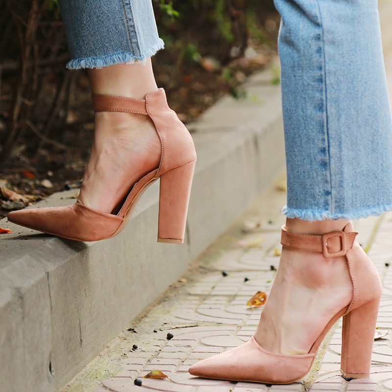 2018 Sexy Classic High Heels Women's Sandals Summer Shoes Ladies Strappy Pumps Platform Heels Woman Ankle Strap Shoes 10