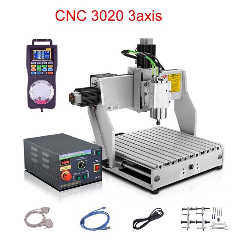 CNC routeur graveur machine de gravure industrielle 3020 800 w CNC fraiseuse taxe gratuite à RU