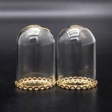 Odoria 1:12 Miniature 2PCS Glass Display Bell Jar with Base Dollhouse Decoration Accessories(China)