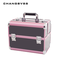 Hot Selling Makeup Organizer Jewelry Box,Large Cosmetic Bags Suitcase Make Up Storage Box,Women Travel Make Up Case Cosmetic Bag