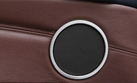 For BMW X4 2014 2015 Door Speaker Sound Cover Trim 4pcs