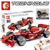 NEW SENBO Technic 701000 585PCS RC Electric F1 Formula racing car with strong motor compatible LegoINGs building blocks boy toys