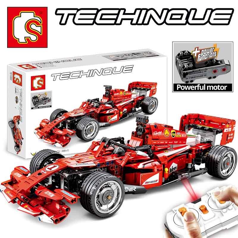 Nouveau SENBO Technic 701000 585 pièces RC électrique F1 formule voiture de course avec moteur fort compatible LegoINGs blocs de construction garçon jouets