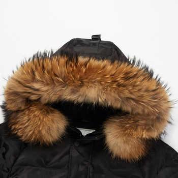 BOSIDENG harsh winter thicken goose down jacket for men down coat natural fur waterproof windproof hood outwear B80142149