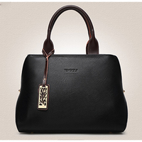 Luxury Genuine Leather Women Black Handbags Large Red Shoulder Bags White Crossbody Bags Big Hot Pink