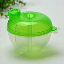 Зеленый портативный детский молочный ящик для кормления, дозатор для порошка, контейнер с рисунком медведя из мультфильма, три решетки, отсек для хранения еды для младенцев