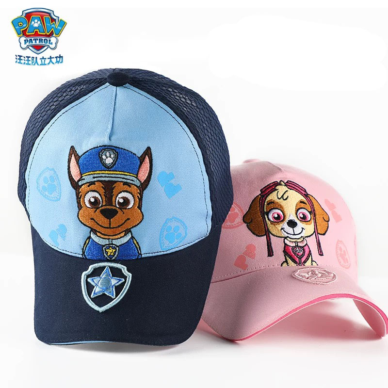 Genuine PAW Patrol Cotton Cute Children's Spring Summer Hats Caps Headgear Chapeau Puppy Print Kids Breathable Birthday Gift