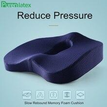 PurenLatex 45*37 Memory Foam Orthopedic Pillow Coccyx Chair Cushion