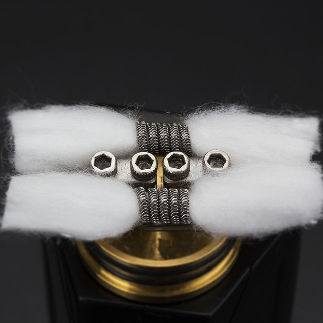 Coil Father Electronic Cigarette Bravo Vape Cotton 15pcs/Pack For RDA RTA RBA Atomizer Coil Wire Organic Cotton VS 20pcs/Bag 2