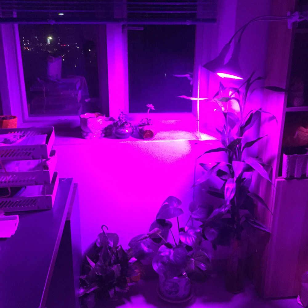 E27 Pianta del LED Coltiva La Luce Dual 290 Lampada A Spettro Completo Lampadina Supporto Da Tavolo Clip di set Idroponica per Semi di Semi di Fiori Veg coperta growbox