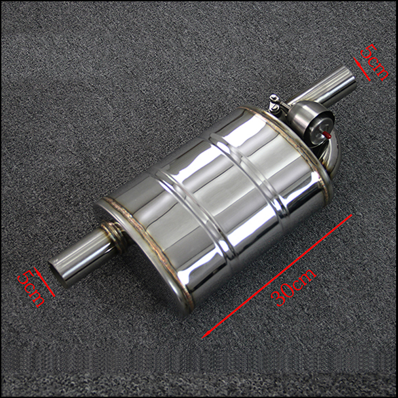 Universal Car modification 2 inch 51mm valve muffler remote control valve exhaust pipe exhaust pipe muffler pattern M drum