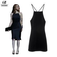 ROLECOS New Arrival Movie La La Land Cosplay Costumes Emma Stone Mia Cosplay Dress Color Black Backless Women Dresses