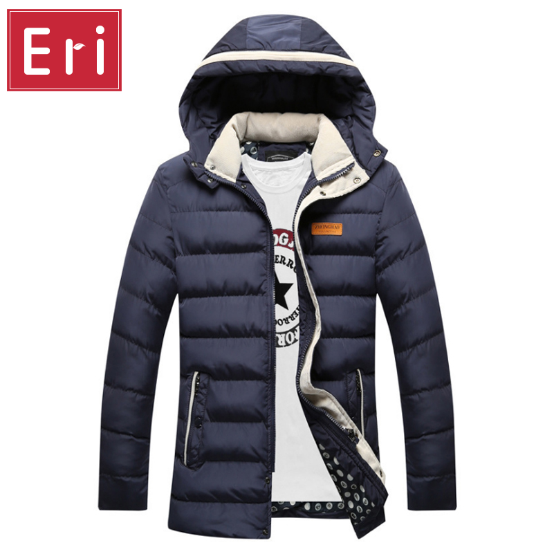 2017 New Winter Parka Long Men Jacket Coats Brand Thicken Wadded Cotton-padded Jackets Outerwear Hooded Long Coat Slim Fit X304 2014 men cotton padded jacket winter jacket men wadded jacket outerwear medium long thickening male winter men coats parkas