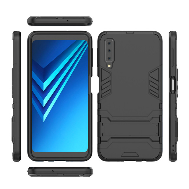 buy popular a9870 c0fdc US $2.56 20% OFF Shockproof Armor Phone Case For Samsung Galaxy A7 2018  A750 Full Cover Samsung A7 2018 A750F A750 SM A750F A 7 A72018 6.0