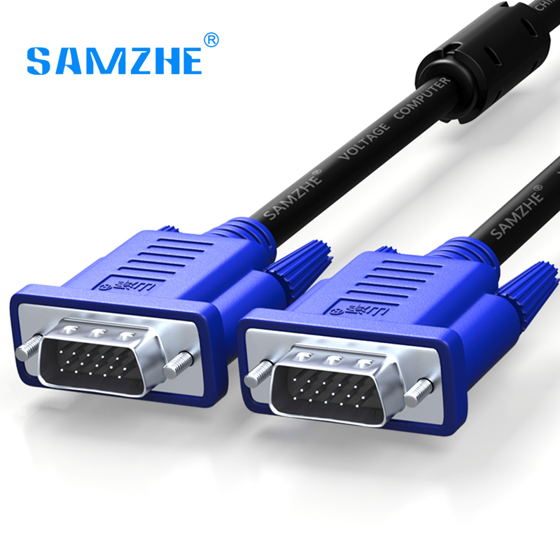 SAMZHE 1080P VGA Cable Male to Male 3+6 Pin VGA D-SUB able for HDTV Multimedia Display 1.5m 3m 5m 10m 15m 20m 30m  монтажно тяговый механизм able wrp 16 20