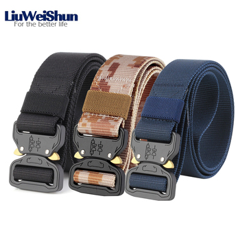 LiuWeiShun Military Tactical Belt Men Ca...