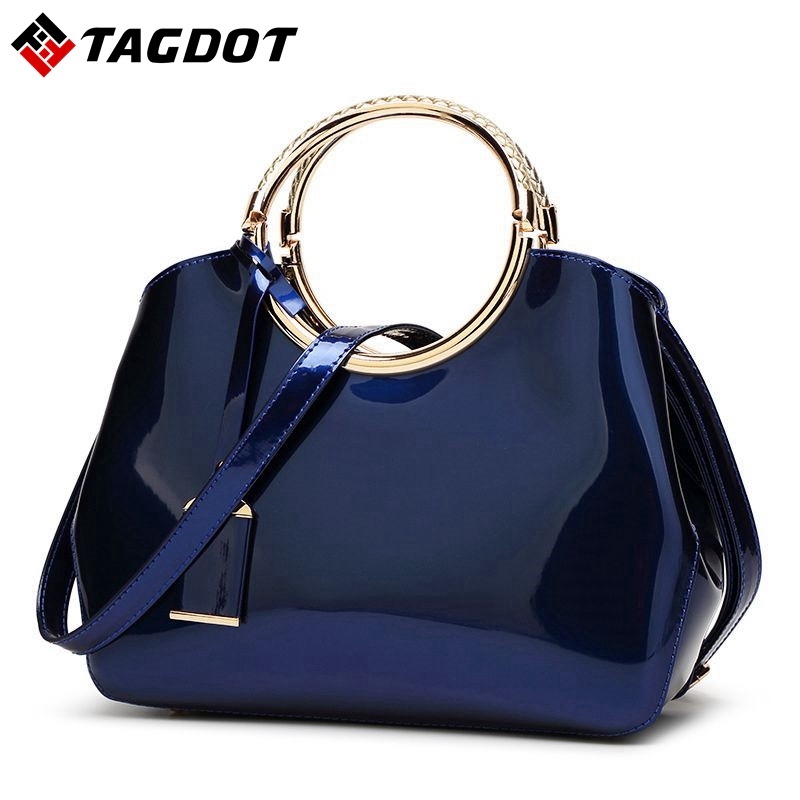 2017 High Quality Patent Leather Women bag Ladies Cross Body messenger Shoulder Bags Handbags Women Famous Brands bolsa feminina