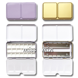 Caixa pequena do ferro da caixa da pintura da aguarela da cor da caixa 12 da lata da série dos doces