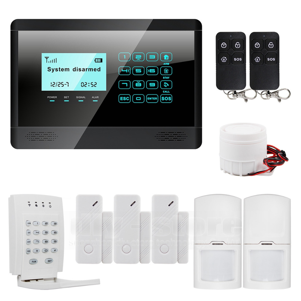 DIYSECUR Wireless GSM SMS TEXT Touch Keypad Home House Alarm System Touch Screen High Quality + Wireless Password Keypad 16 ports 3g sms modem bulk sms sending 3g modem pool sim5360 new module bulk sms sending device