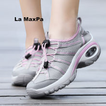 Купить с кэшбэком 2018 Summer Sandals sneakers women Air damping Breathable mesh running shoes women sport shoes woman Trainers zapatillas mujer