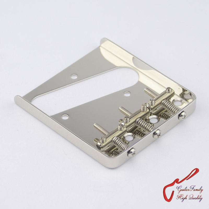 1 Set GuitarFamily Vintage 62 Type Fixed Electric Guitar Bridge With Threaded Saddles  Nickel  ( #1246 ) MADE IN KOREA 1 set guitarfamily alnico pickup for casino jazz guitar nickel cover made in korea