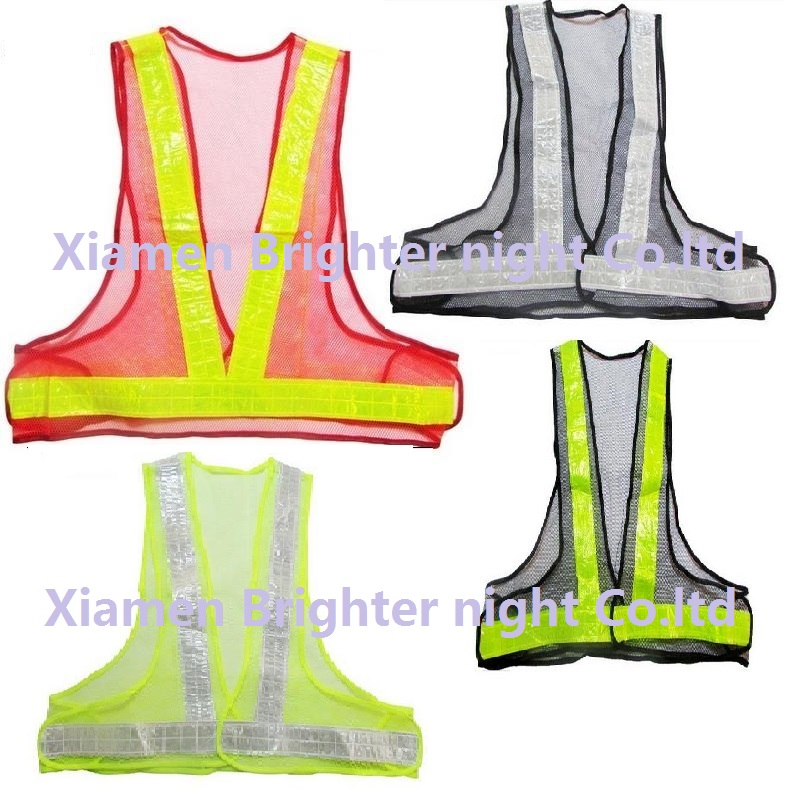 Good Quality High Visibility Reflective PVC Tapes Breatable Mesh Safety Vest
