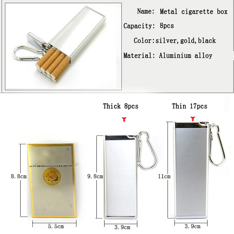 Portable Cigarette Box Anti Pressure Waterproof Multifunctional Tobacco Tank Metal Ashtray Storage Bottle Toothpick Bottle