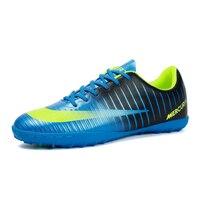 467d12371d Men Soccer Shoes Indoor Futsal Shoes Men Boy Kids Soccer Cleats Turf  Football Soccer Shoes TF. Homens Sapatos Futsal Menino Caçoa o Futebol  Chuteiras ...