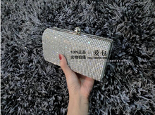 2017 Rhinestone Evening Women Bag Clutch Diamond Wedding Bride Banquet Bag Sparkly Bridesmaid Handbag