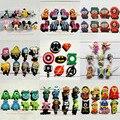 Mix 8 pçs/lote Mickey de Super herói Avengers o Minions monstro de acessórios encantos forma de crocodilo JIBTZ presente