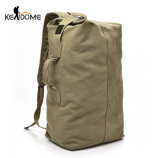 6b9c11268eb Large Capacity Men Women Travel Bag Military Tactical Climbing Backpack  Army Bags Canvas Bucket Shoulder Sports Bag Male XA595WD