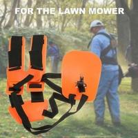 Double Shoulder Harness Lawn Mower Strap Grass String Trimmer Brush Cutter Harness Belt Garden Power Pruner Nylon Orange Safety Measuring Tools