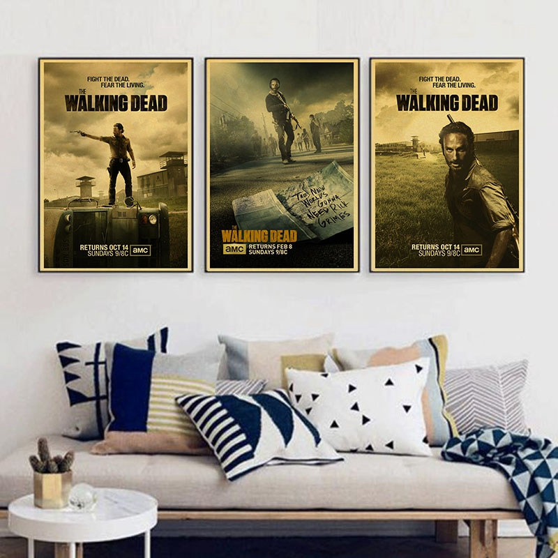 Rick Grimes Posters Wall Sticker The Walking Dead Vintage Poster Rhaliexpress: Walking Dead Home Decor At Home Improvement Advice