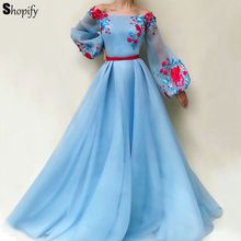 shopify Evening Dress 2019 Real Sample A-line Long Sleeve