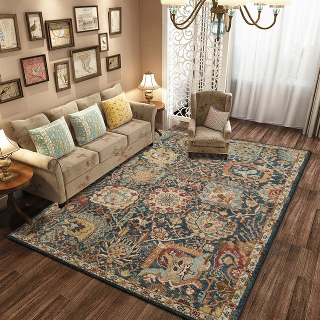 Classical American style big size living room carpet , retro office ...