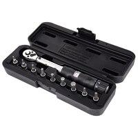 1/4Inch Dr 2-14Nm 자전거 토크 렌치 세트 자전거 수리 도구 키트 래칫 기계식 토크 스패너 수동 렌치