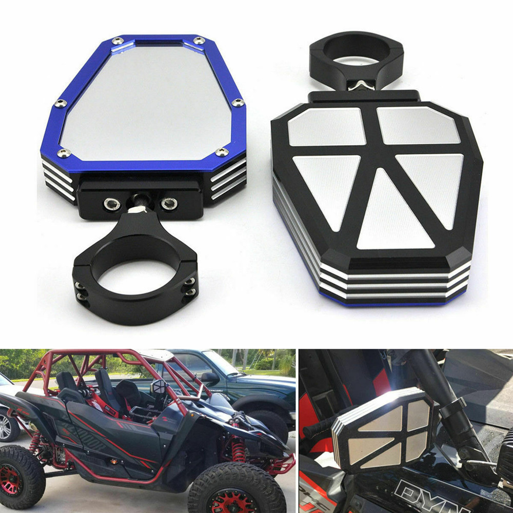 """KEMiMOTO for Polairs RZR 1000 XP for Yamaha Rhino 1.75"""" UTV SXS Roll Cage Side Mirrors Rearview Convex"""
