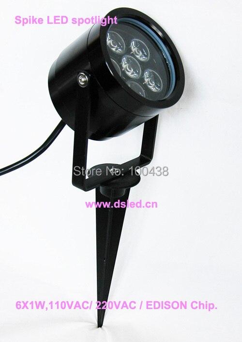 ①Impermeable, buena calidad, de alta potencia 6 W al aire libre ...