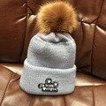 Норки и лисицы бейсболка пом англичане зимнюю шапку для женщин девушки шерсть шляпа трикотажные хлопок шапочки шапка новый толстая женщина cap