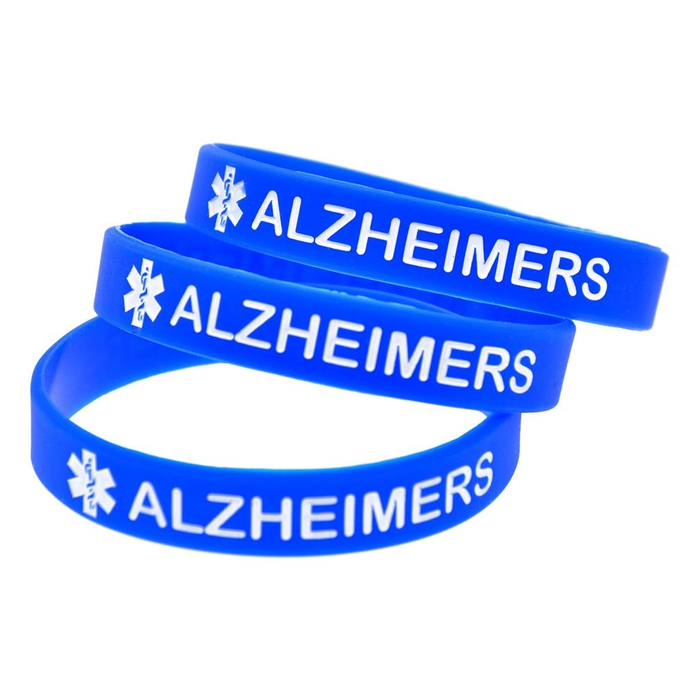 Confident Onebandahouse 50pcs/lot Bracelet For Elders Medical Alert Alzheimers Silicone Wristband Supplement The Vital Energy And Nourish Yin