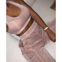1aefc5d2479 KGFIGU 2018 Women two piece set top and pants 2018 summer 2 piece set women  tracksuit matching sets pink womens clothing