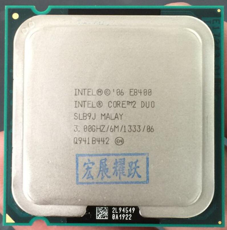 Intel Core 2 Duo Processor E8400 (6M Cache, 3.00 GHz, 1333 MHz FSB)SLB9J EO LGA775 Desktop CPU Intel Central Processing Unit