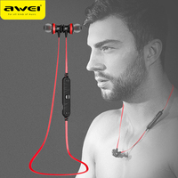 AWEI A980BL Stereo Headset Audifonos Neckband Running Sport Earphone With Mic Auriculares Fone De Ouvido For